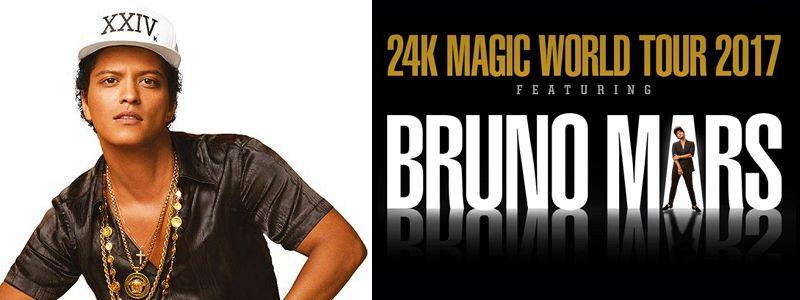 Aranžma Bruno Mars (prevoz in vstopnica)