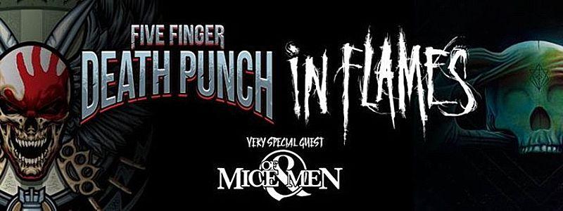 Aranžma Five Finger Death Punch & In Flames (prevoz in vstopnica)