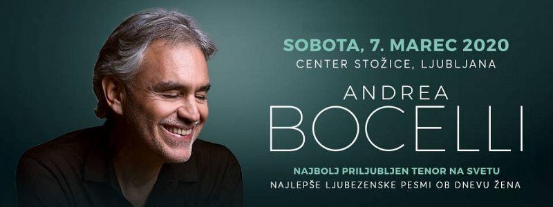 Vstopnica Andrea Bocelli