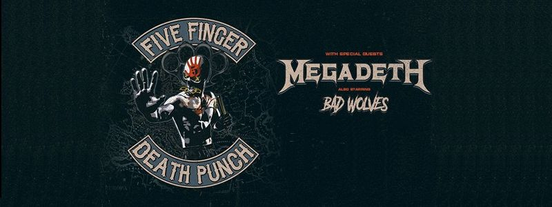Aranžma Five Finger Death Punch, Megadeth (prevoz in vstopnica)