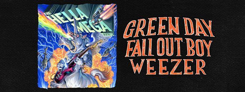 Aranžma Green Day, Fall Out Boy, Weezer (prevoz in vstopnica)