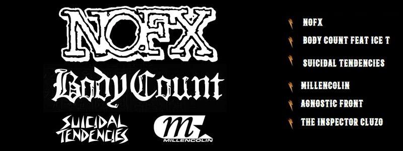 Aranžma NOFX, Body Count... (prevoz in vstopnica)